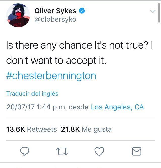 oli sykes chester bennington