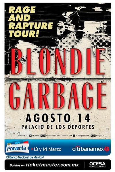 Flyer Blondie y Garbage