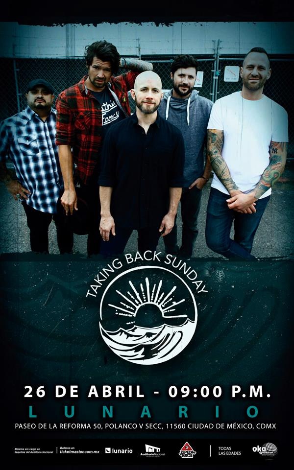 El concierto de Taking Back Sunday cambia de sede al Lunario de la CDMX