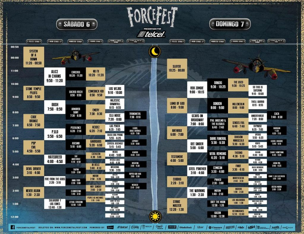 HORARIOS FORCE FEST