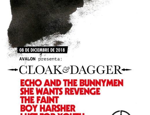 Primera edición de Cloak & Dagger en CDMX, con Echo And The Bunnymen, She Wants Revenge y más