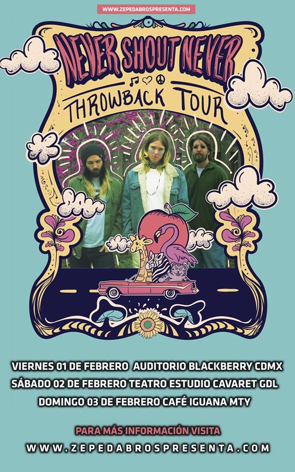 Nuevas fechas de Never Shout Never en México, ahora en febrero 2019