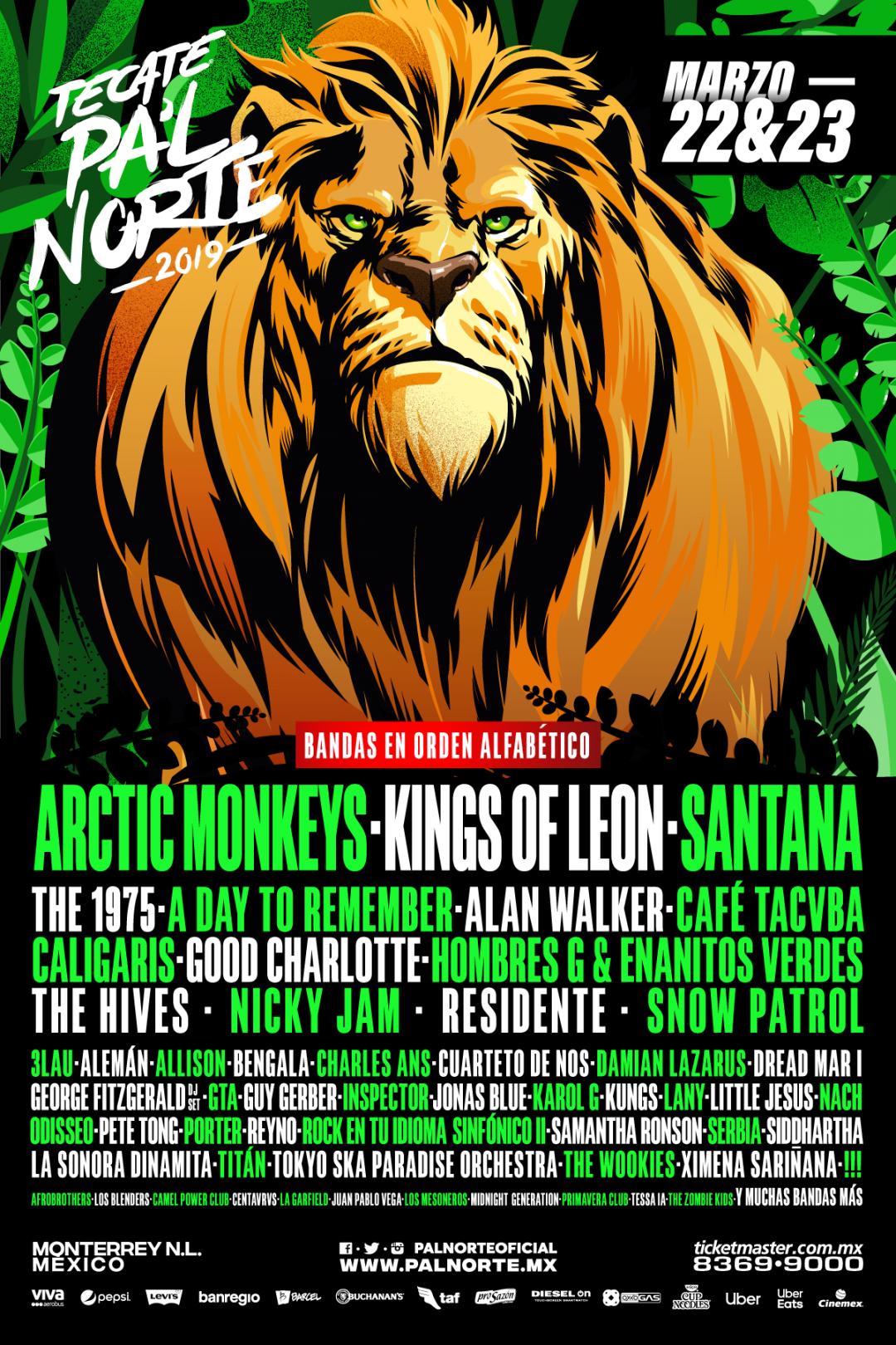 A Day To Remember, 1975, Good Charlotte, Arctic Monkeys, en Monterrey en el Tecate Pal Norte