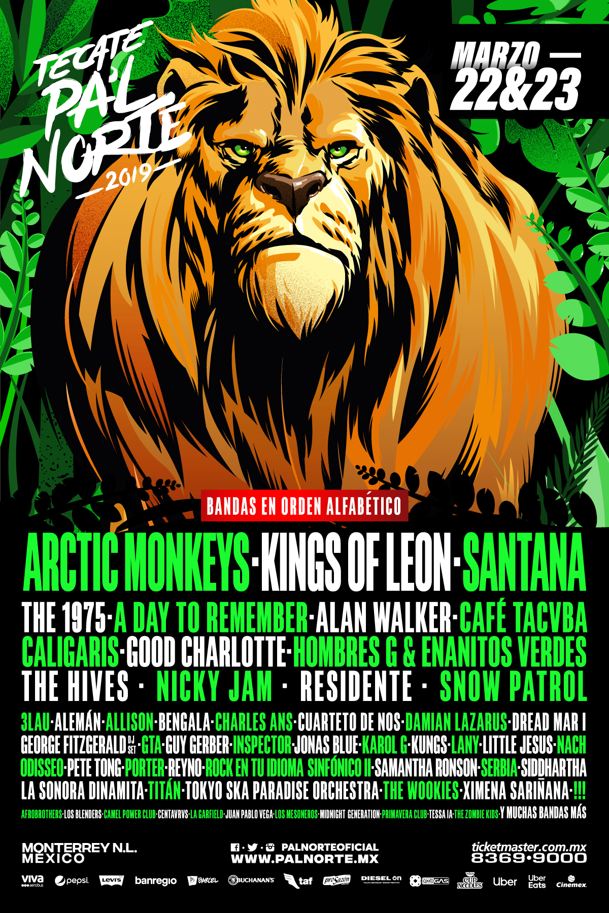 A Day To Remember, 1975, Good Charlotte, Arctic Monkeys, en Monterrey en el Tecate Pal Norte