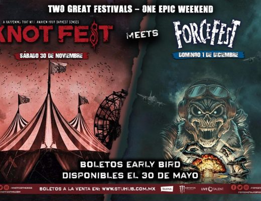 Early Bird Boletos Knotfest Meets Force Fest