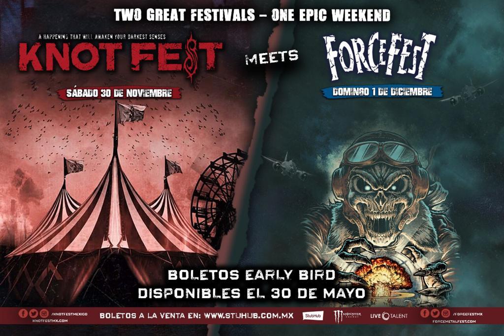 Early Bird Boletos Knotfest Meets Force Fest