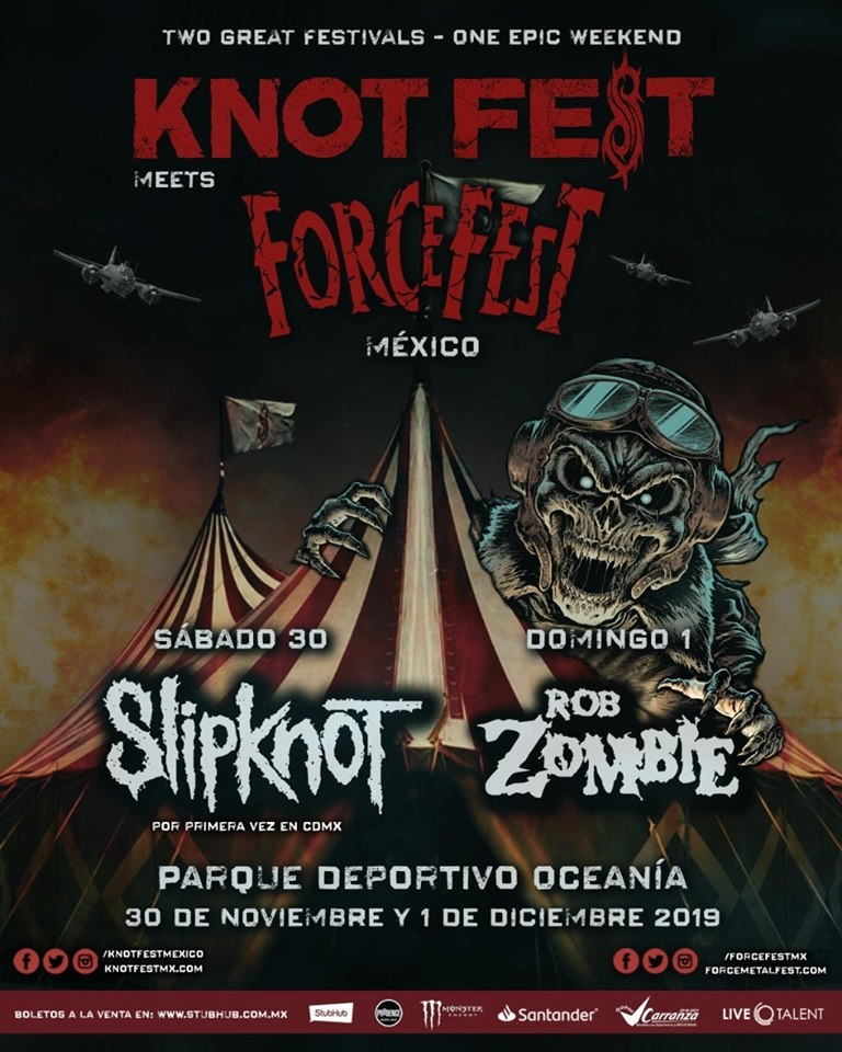 slipknot rob zombie knotfest force fest