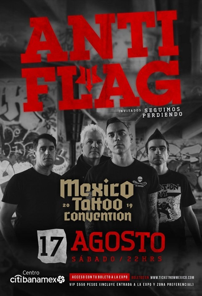 Anti Flag se presentará en la México Tatto Convention