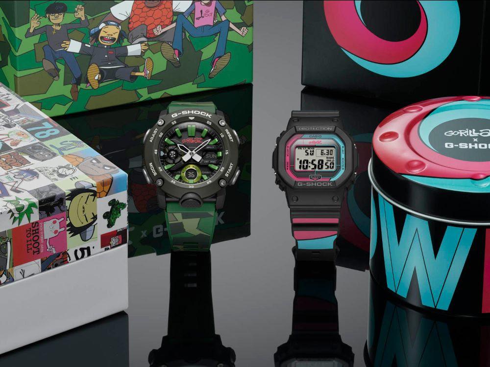 Colaboración de relojes Gorillaz y X G-SHOCK de Casio