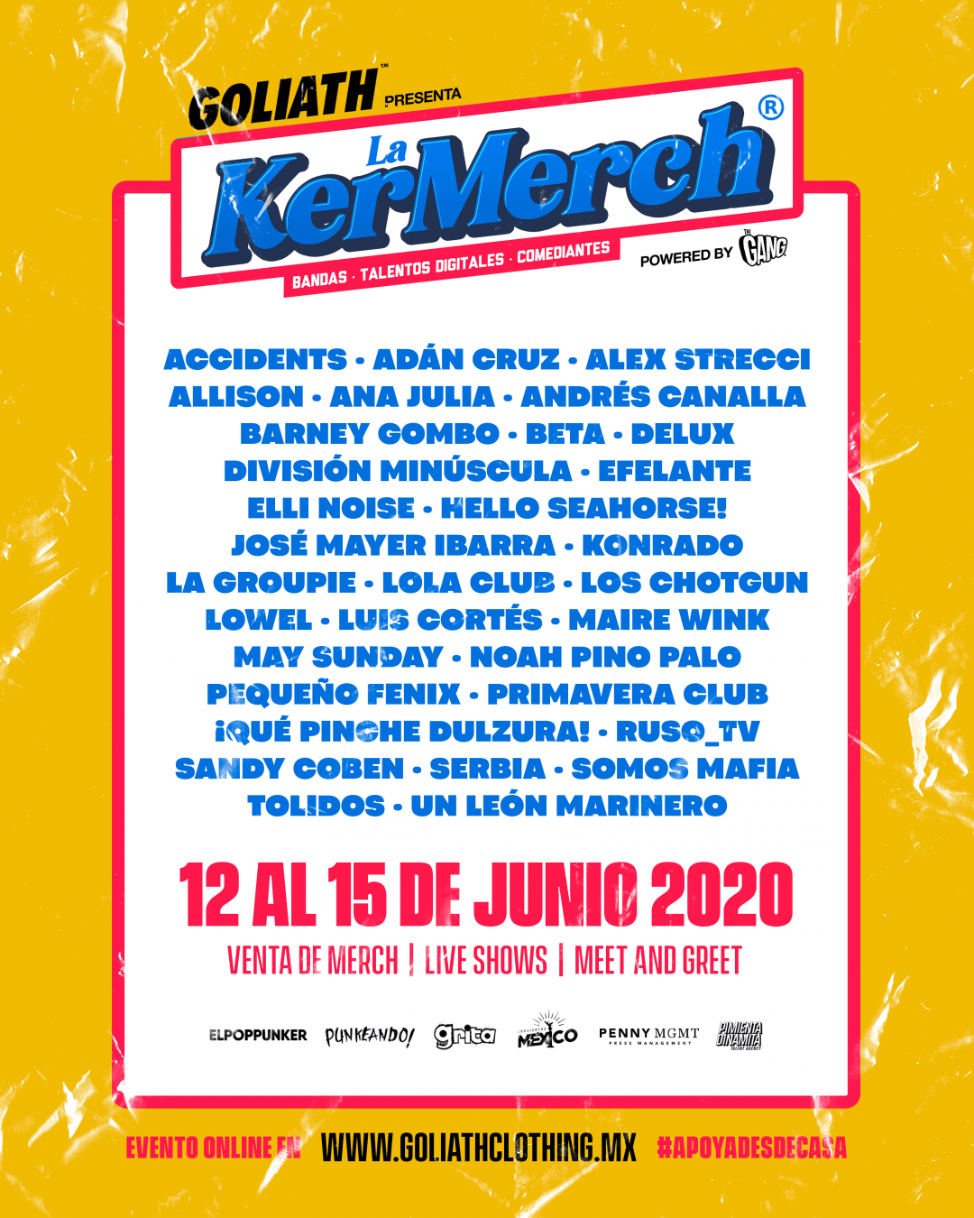 La KerMerch venta de mercancía, live shows, meet and greet y más