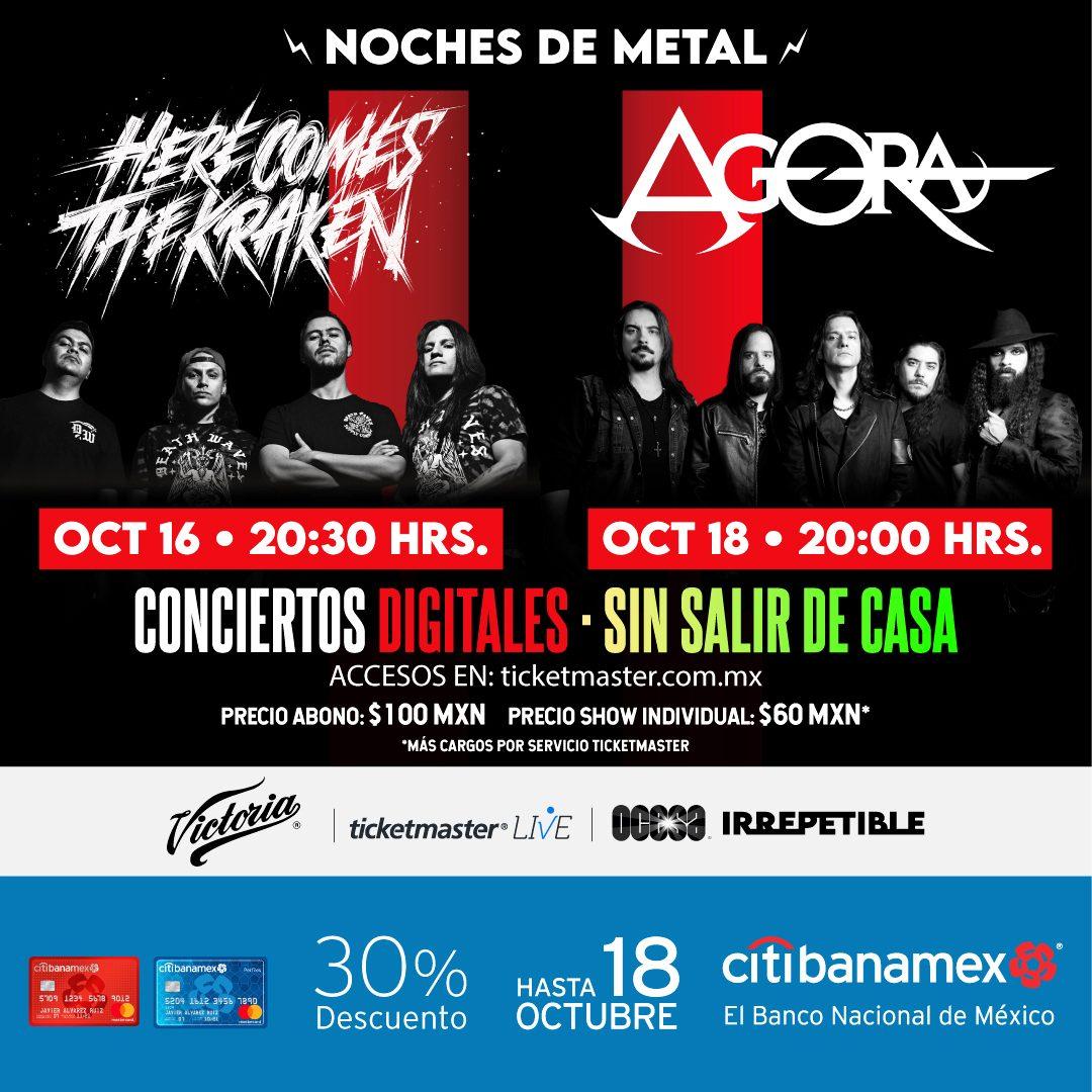 Noches de Metal: Here Comes The Kraken y Agora