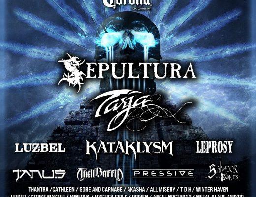 SEPULTURA, TARJA, KATAKLYSM, LUZBEL, en el Puebla Metal Fest