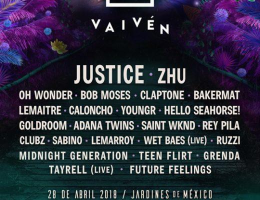 Justice encabezará la 3ª edición del Festival Vaiven
