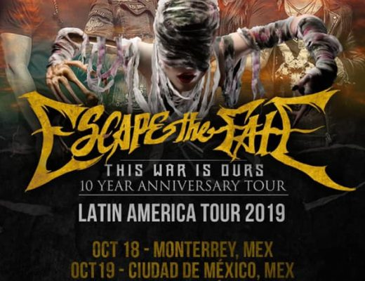 Escape The Fate: Celebra 10 años de This War Is Ours en México