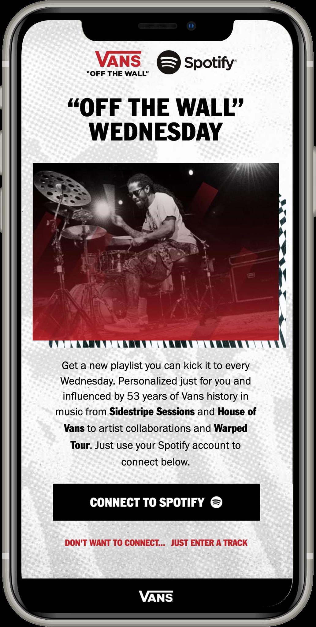 "Alianza de Vans con Spotify para lanzar ""Off The Wall"" Wednesday"