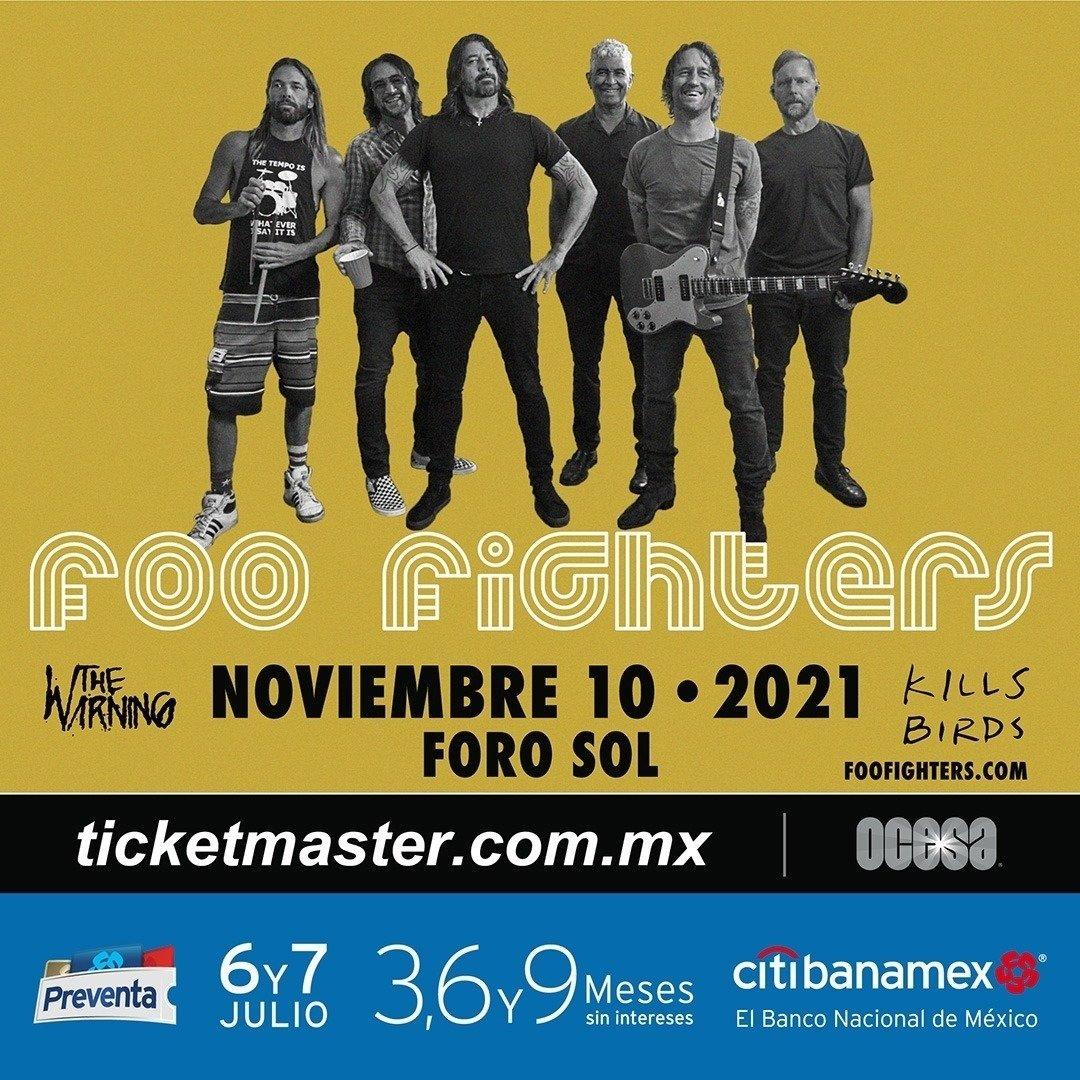 ¡Foo Fighters en concierto en el Foro Sol!